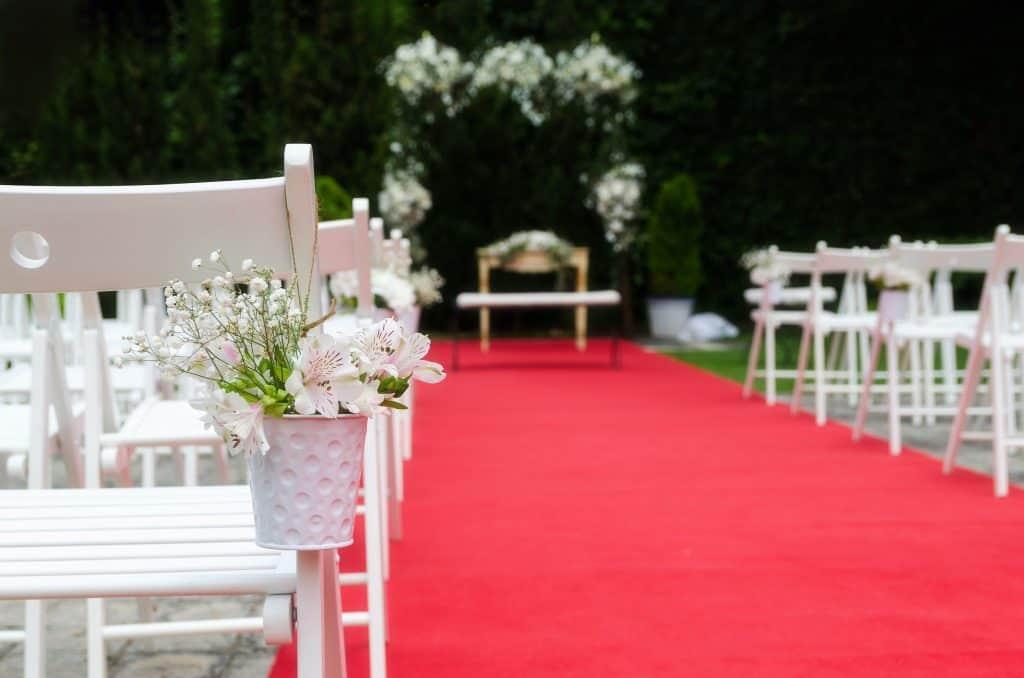 alfombra roja para boda
