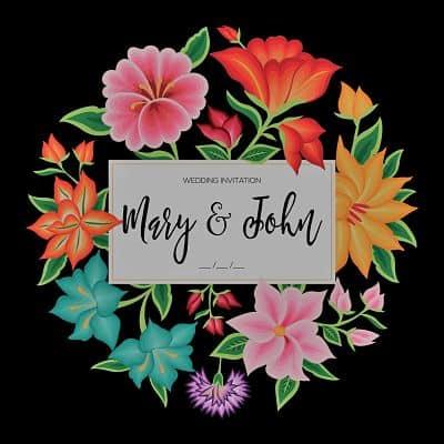 invitaciones de boda mexicana con flores