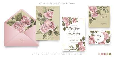 invitaciones para boda de papel albanene