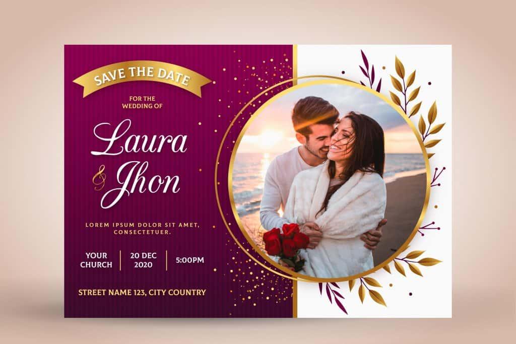 invitacion para boda en rojo
