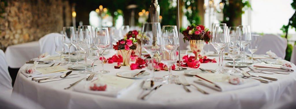 el mejor arreglo de mesa de boda
