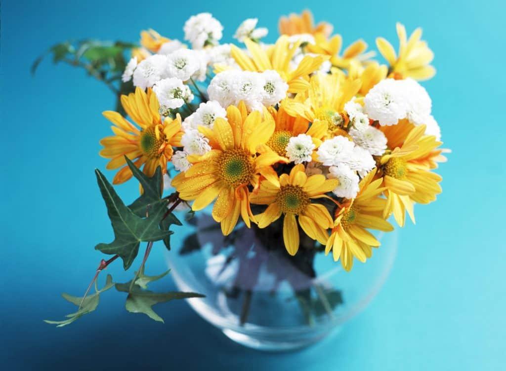 Las flores para centros de mesa