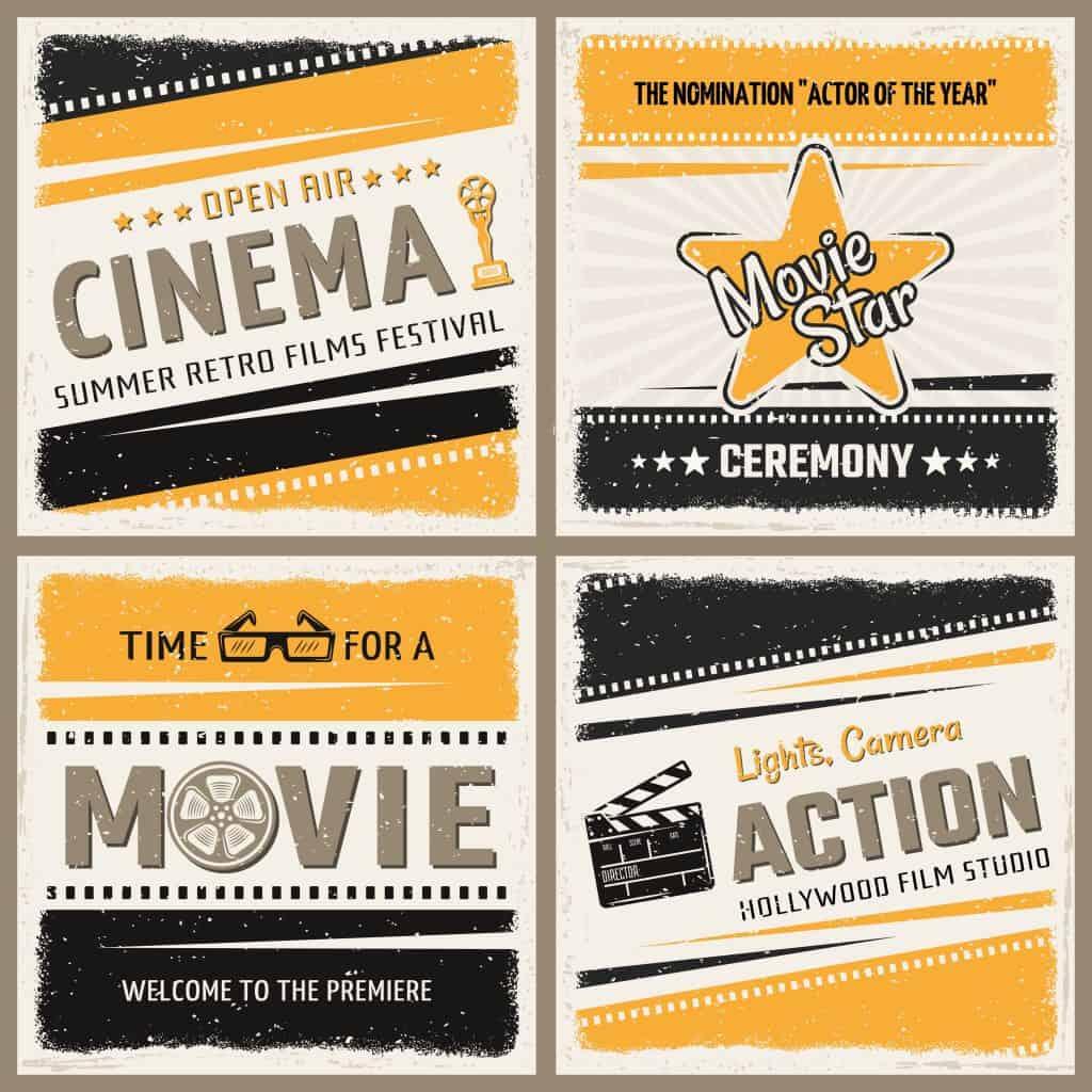 invitaciones de 15 años tema hollywood