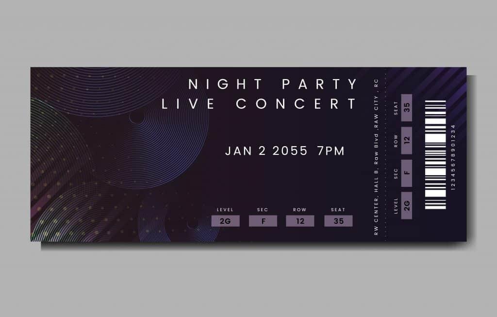 invitaciones de 15 años tipo concierto