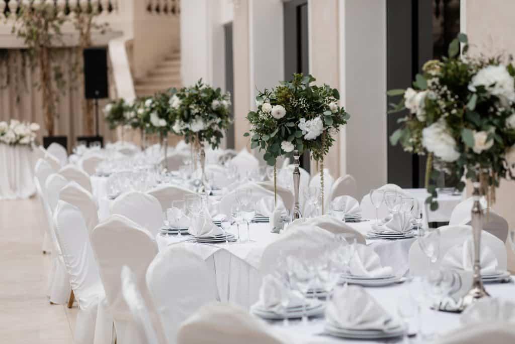centro de mesa para 15 años color blanco