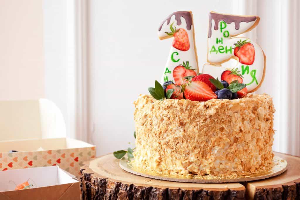 pastel para 15 Años llamativo