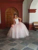 vestido de 15 años rosa pink